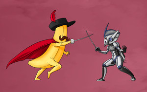 Commish - Banana Fight by spiketail94