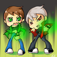 BEN10 AF Ben and Albedo by dust4148