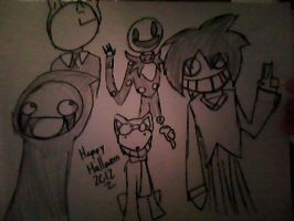 CREEPYPASTA HALLOWEEN DRAWING! by Otaku-J84