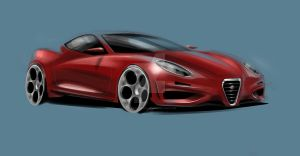 Alfa Romeo 6C Concept Sketch by hyperion-ogul-92