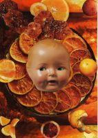 Orange baby by pink-porcupine