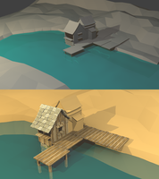 Low poly Landscape (Gaia Online) by lithium-sound