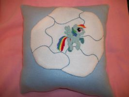 Rainbow Dash Custom Pillow by grandmoonma