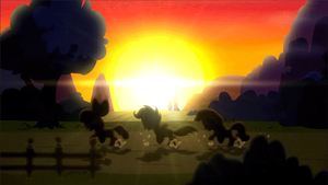 Hearts Strong as Horses Sunset Run (Animated) by MisterAlex
