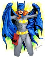 Batgirl with cape by andypriceart