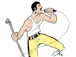 freddy mercury cober color by bufon21