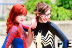 Spider Girl and Venom by pose4effect