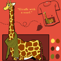 Giraffe with a Scarf by hanshee
