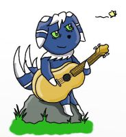 Just a Meowstic and his Guitar by mentalmagikarp