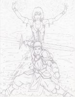 Fire and Ice -Pencil by Steel-Raven