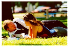 Couple in the park by HellFox