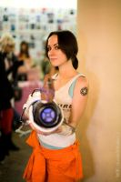 Chell cosplay (Portal 2) by Feyische