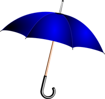 Blue umbrella by froshellin
