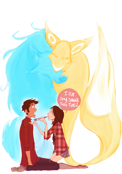The Wolf and The Fox by AlexielApril