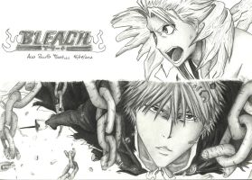 Bleach - Ichigo and Hitsugaya by mangaslover