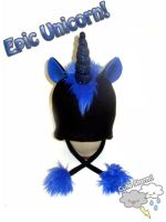Epic Black Unicorn Hat by The-Cute-Storm