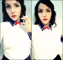 Elizabeth - Burial at Sea (Bioshock) Make-up test by Nani-Dechuka