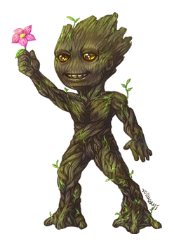 Chibi Groot by ahou