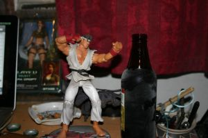 ryu vs cold beer by pablour026