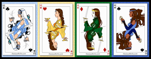 Queens of the Deck: Raava and Her Avatars by LoveOrMadness
