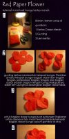 Red Paper Flower tutorial by RyeChan