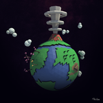 Lowpoly Planet by Box-of-Toys
