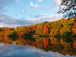 Autumn colors on the lagoon by Mogrianne