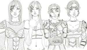 Dragon Age - The Heroines by Setite-Renenet