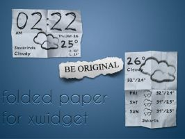 Folded Paper for XWidget by boyzonet