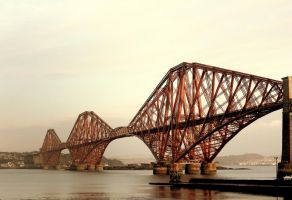 Forth Rail Bridge by Beachrockz4eva