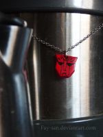 Red Autobot Necklace by Fay-san