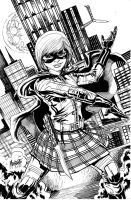 Hitgirl inked commission by gammaknight