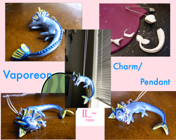 Vaporeon -Charm-Pendant- by SqueekyClean-801