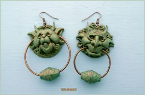 Knocker Earrings Labyrinth - Special Edition by buzhandmade