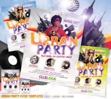 Urban Party Flyer Template by deiby