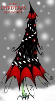Goth Christmas Tree by Boredman