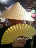 me in a chinese hat and fan by Hyruleking881