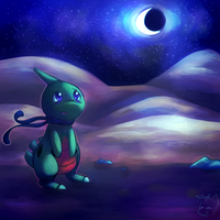 Lost Larvitar by honrupi