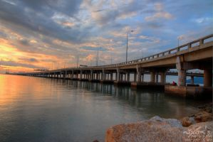 Sunrise of Penang bridge 2 by fighteden
