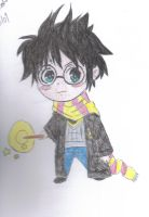 chibi harry potter xD by OkamiRaina