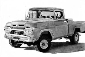 Ford f100 4x4 by CSwenson-Artistry