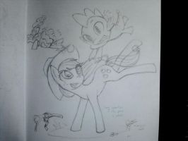 Applejack commish progress sketch by Dark-Pen