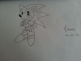 Sonic the hedgehog by Laura-in-china