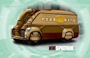 Shadowrun Schattenkatalog Delivery Van Concept by raben-aas