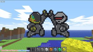 Daft Punk invades Minecraft by Temidien