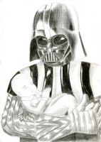 Darth Vader and the baby by Daniela-Chris