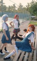 Evangelion 2.0 You Can (Not) Advance Cosplay Group by SailorMappy