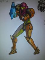 Samus with Watercolors by Venom2424
