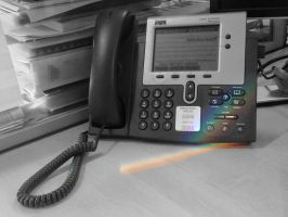 Rainbow on Works Phone (Selective Color) by bergunty