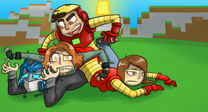 Minecraft Marriage Dogpile by Leemak
